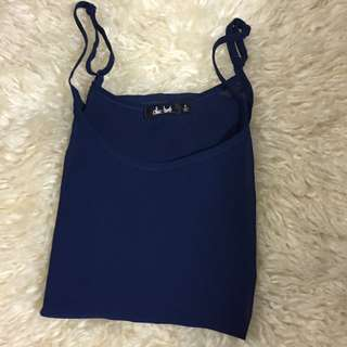 Blue/navy Mesh Cami Top