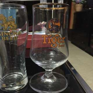 Tiger Beer Wine Whiskey Glass