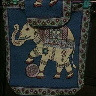 Blue Elephant Knapsack