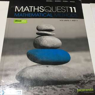 Maths Quest 11 Mathematical Methods