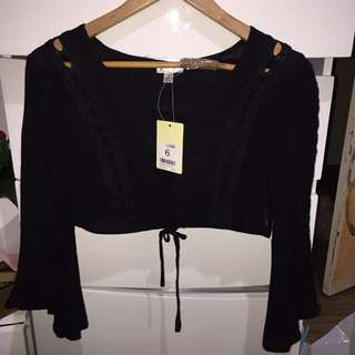 belle sleeve crop