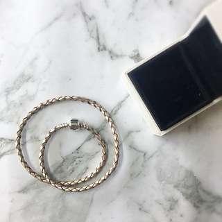 Champagne Pandora Leather Bracelet