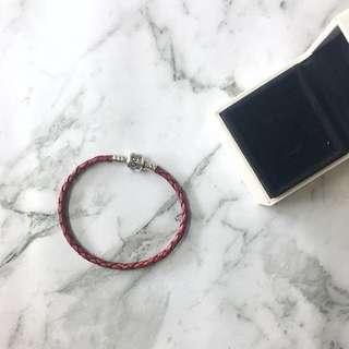 Red Leather Pandora Bracelet