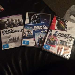 Fast & Furious Movies 1 To 7