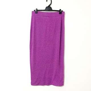 River Island Purple Midi Skirt