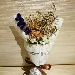禮物🎉🎉 手作乾燥花花束 /