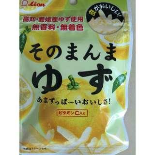 """(現貨)銅板零嘴""""日本Lion柚子果皮/檸檬果皮,酸酸甜甜好滋味⋯"""
