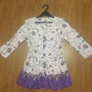 (Preloved) Batik Top Jahit