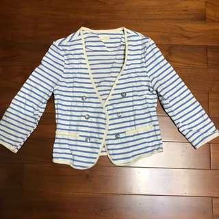 海軍風7分袖小外套