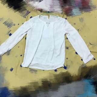 雪紡白襯衫 秋裝 白襯衫