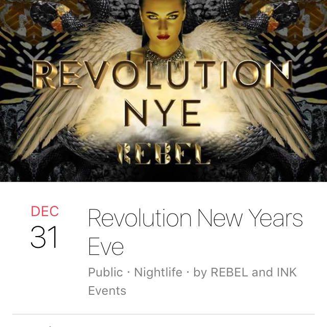 2 Revolution NYE Tickets Rebel Nightclub Toronto