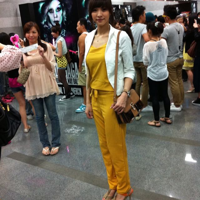 黃色背心+褲子套裝
