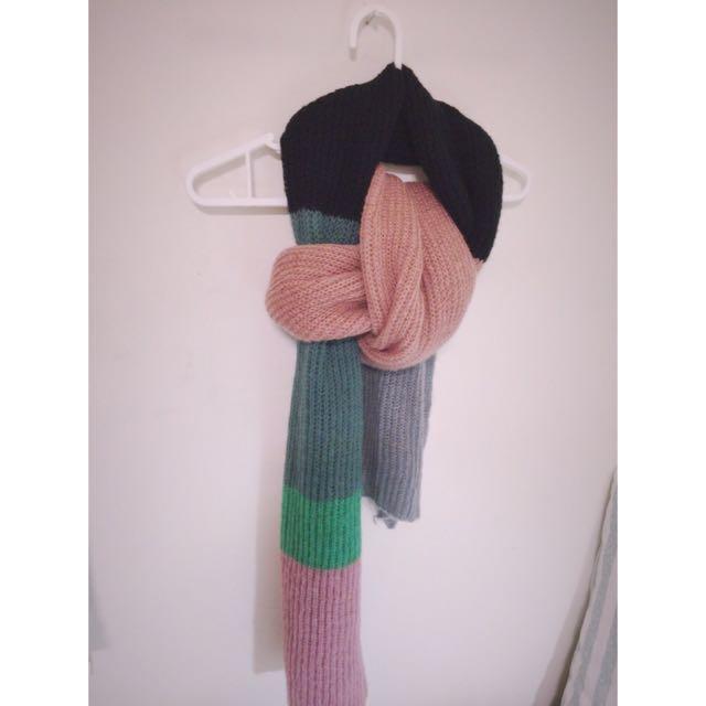 《出清》拼接超氣質暖暖厚圍巾