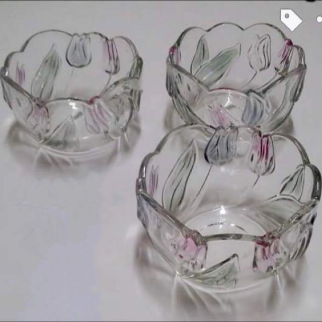 {徵求}鬱金香 玻璃 水晶 碗
