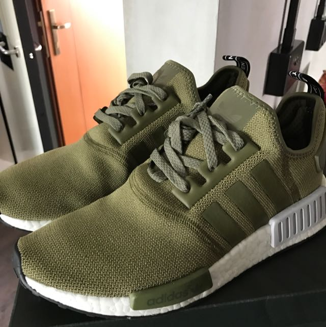 f639d60e93c Adidas NMD Footlocker Olive Green Us9.5 Worn   Ultraboost Boost 2.0 ...