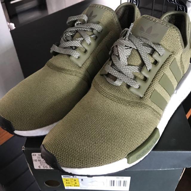 3deb93498f2 Adidas NMD Footlocker Olive Green Us9.5 Worn   Ultraboost Boost 2.0 Yeezy  Bape Nike Jordan Flyknit Air Asics Gel Rf Puma Camo Japan