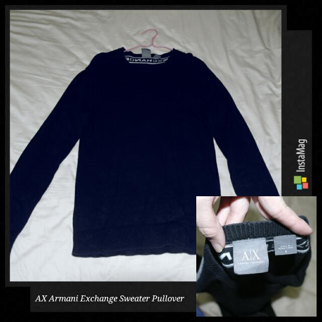 56c748b3 💯 Authentic AX Armani Exchange Pullover Sweater 🎅Christmas Sale 🎅,  Luxury, Apparel on Carousell