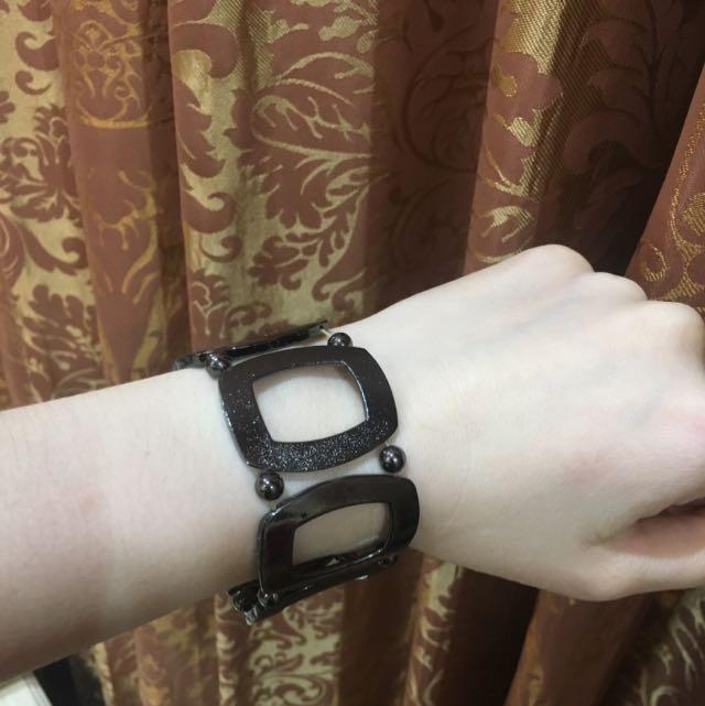 Black Square Bracelet