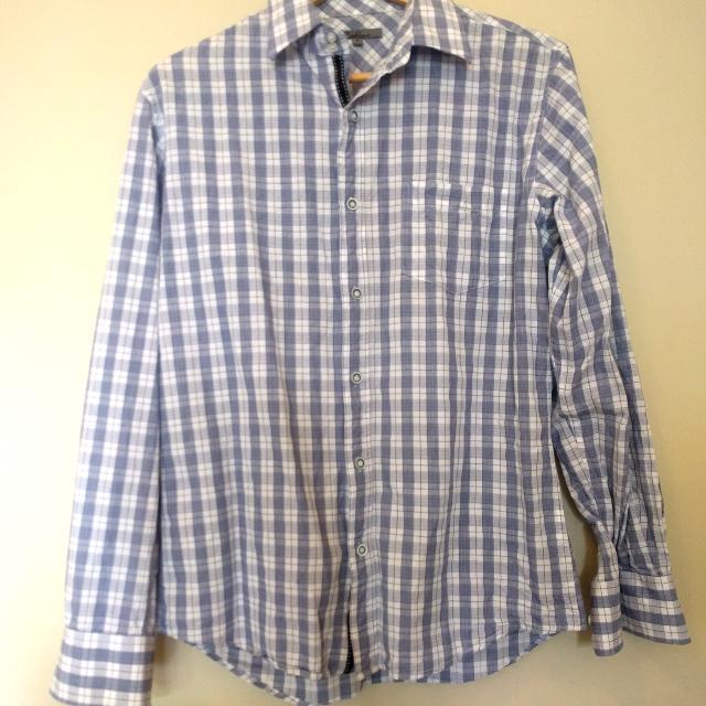 Blue and white Radius shirt
