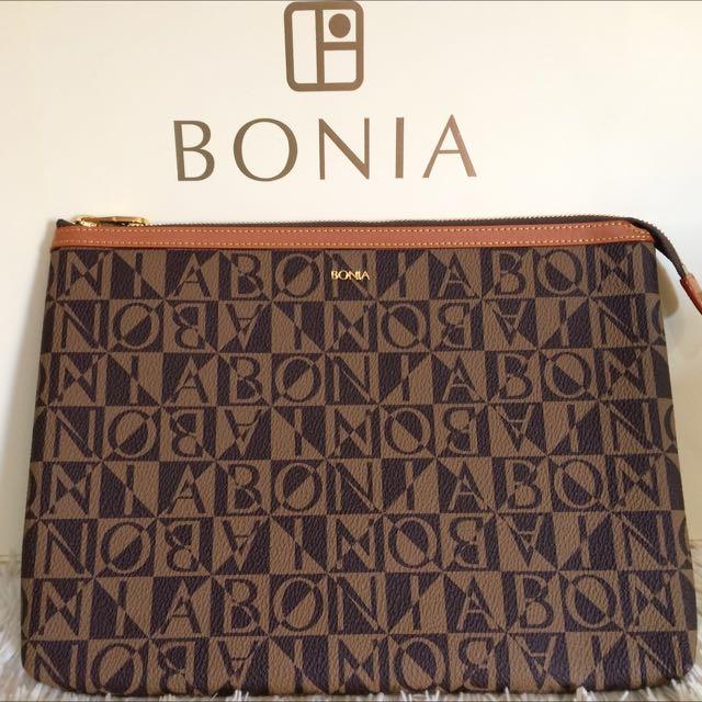 Bonia Original (clutch Zipper Atas)