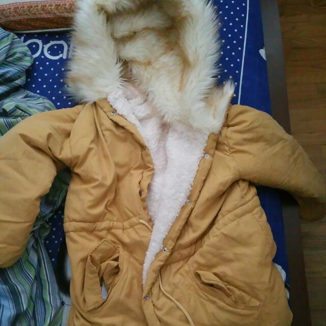 Click - Faux Fur Trimmed Hood