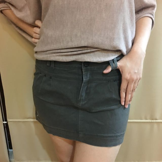 Denim Skirt By Trf