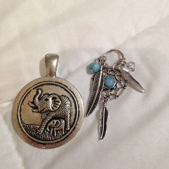 Elephant And Dream Catcher Pendants