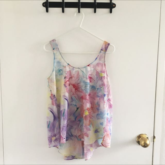 Forever New Floral Top Size 6