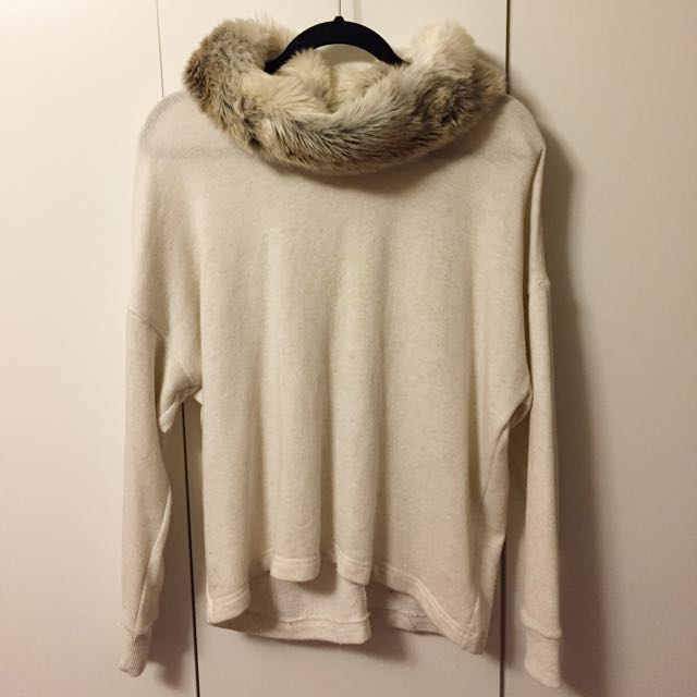 Fur Hooded Aerie Sweater