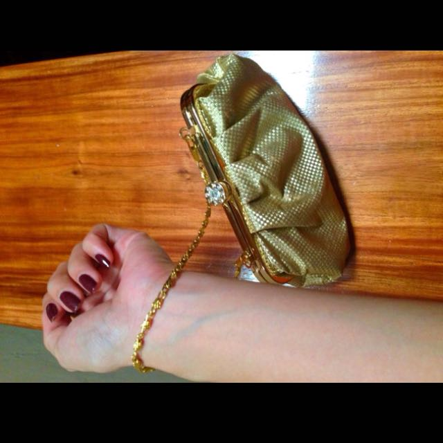 Gold Hand Bag/Purse