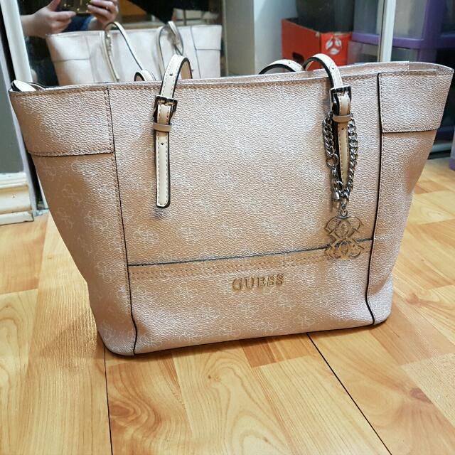 GUESS Pink Tote Purse