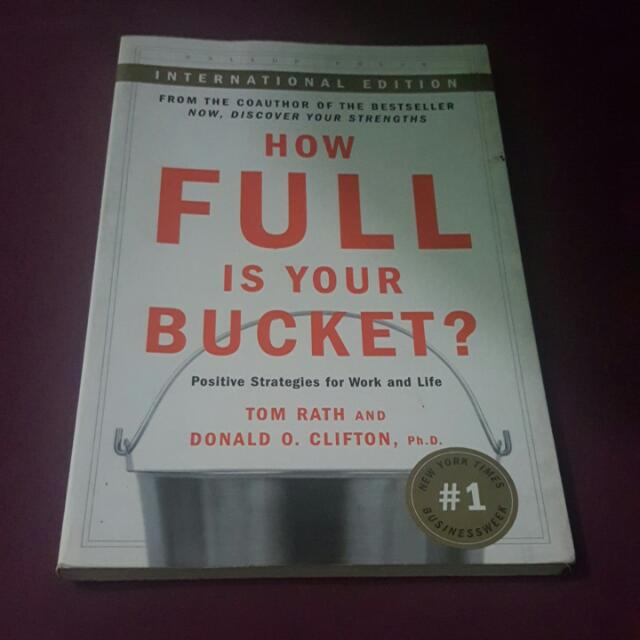 SALE!! How Full Is Your Bucket?
