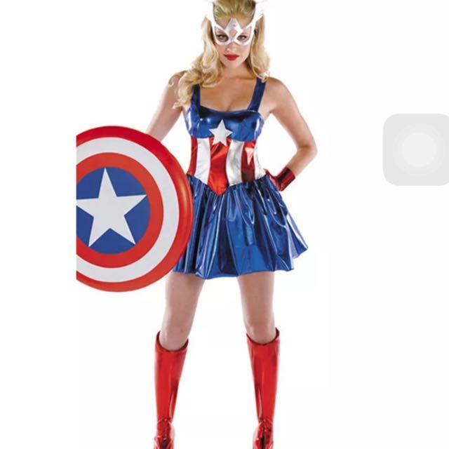 68a49bcc21 IN STOCK  Female Captain America Costume Female Superhero Costume ...