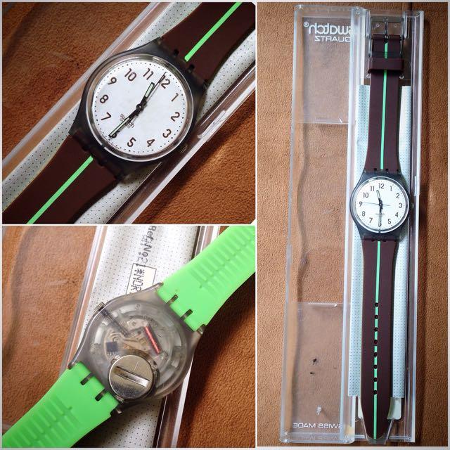 Jam Tangan Swatch Brown-GM132 Original 100%