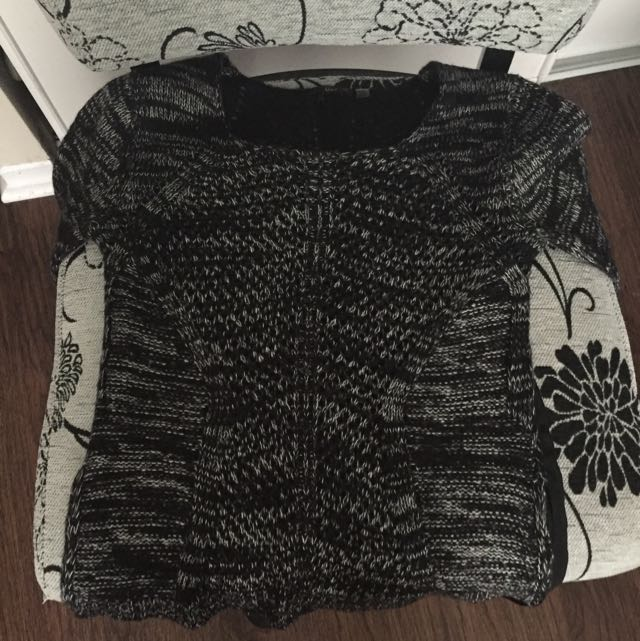 Knit Sweater With See Through Back!
