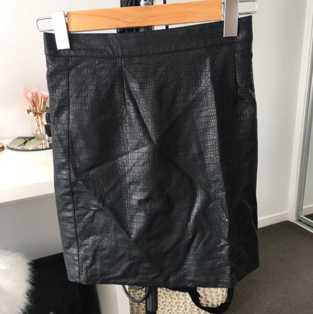 Leather Bardot Skirt