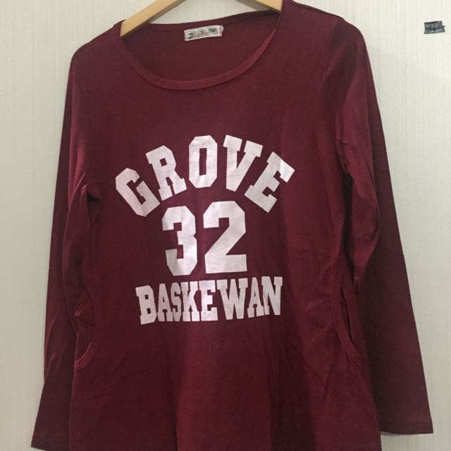 Maroon Number Sweater