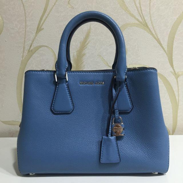 Michael Kors Camille Small Crossbody Bag Handbag (Cornflower Blue)