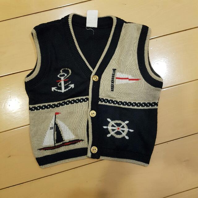 Nautical Vest 12 To 18 Mos