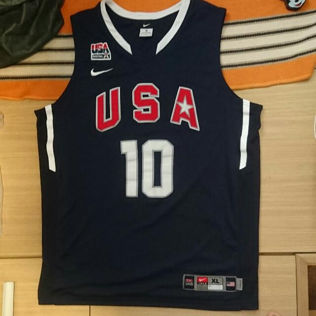 online store 831a3 80b40 Nike USA Olympic Kobe Bryant 高比 Authentic Jersey 落場版球衣 All Sewn