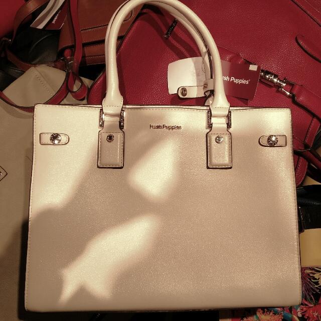 ORI HUSH PUPPIES White Bag Discount 20%