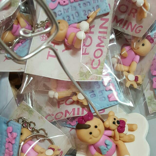 polymer clal christening souvenirs
