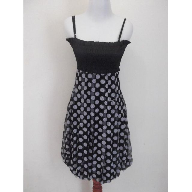 Minidress Black White Polka