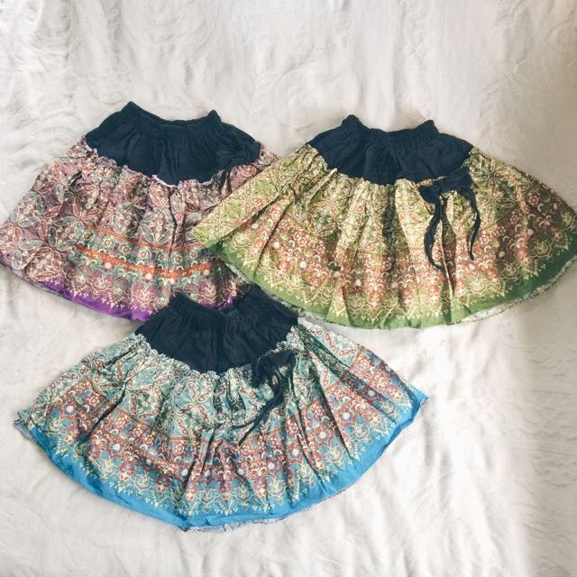 Printed Round Skirts P150 For 3