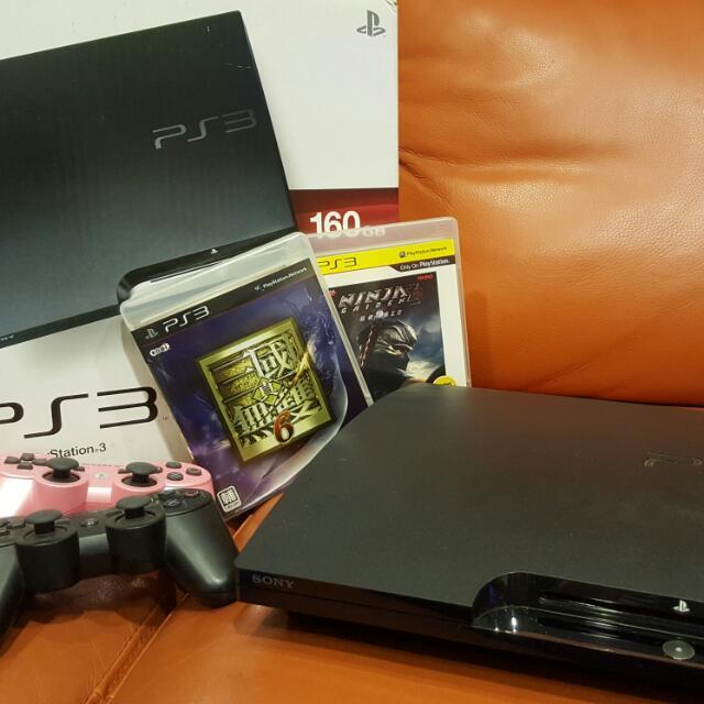 PS3 160G 玩沒幾次 附兩隻原廠手把 兩片遊戲 完整盒裝功能正常!平常多用於看DVD,鮮少打電玩,遊戲片也只買了兩片,雙手把皆為原廠,盒裝都在,汐止東湖南港松山可面交