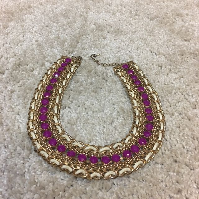 Purple White Gold Neckless