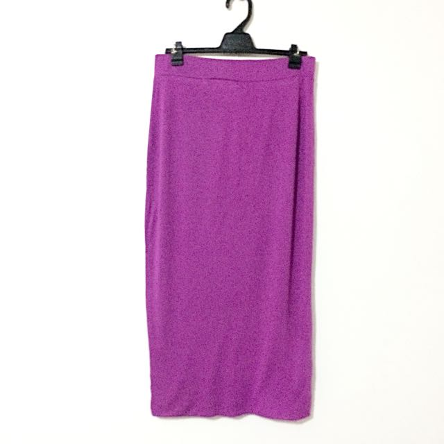 River Island Purple Midi Skirt