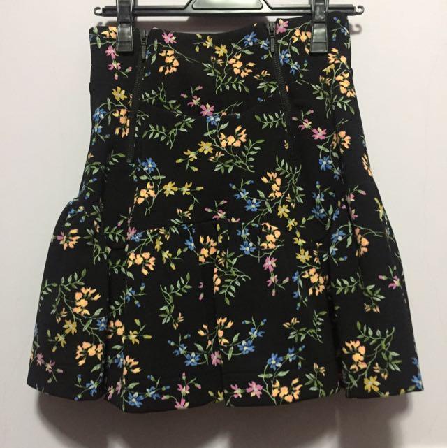 snidel 鋪棉花朵高腰短裙