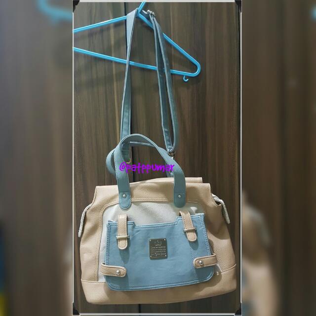 Sophie Paris blue bowler bag