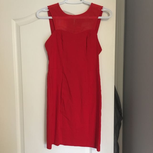 Stunning Red ASOS Dress W Cutout Back